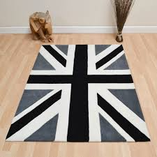 Round Wool Rugs Uk by Union Jack Vintage Wool Rugs In Black Grey Free Uk Delivery