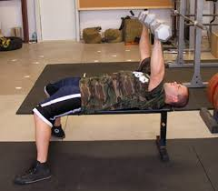 Bench Press With Dumbells - dumbbell press with resistance bands exercise video example