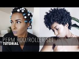 curling rods for short natural hair perm rod roller set on short natural hair ambrosia m video