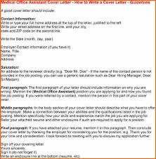 sample cover letter for medical office assistant sample cover