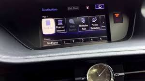 lexus es300h navigation system setting a gps navigation destination in a lexus with remote touch