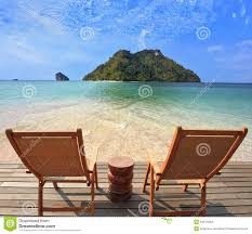Small Beach Chair Romantic Corner On The Beach Stock Images Image 34974964