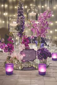 wedding reception centerpiece ideas breathtaking silver and purple wedding table decorations 84 for