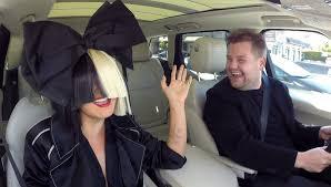 Chandelier Singer Sia And Corden Wig Out During Carpool Karaoke Karaoke