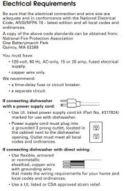 Dishwasher Dimensions Standard Size Home by What Is The Typical Dishwasher Disposer Electrical Connection