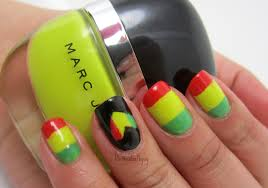 easy rasta nail designs rasta nails one love rasta nail designs