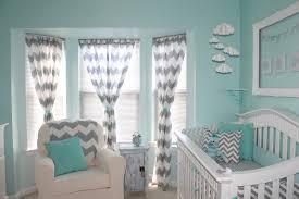 Chevron Pattern Curtains Baby Nursery Decor Aqua And Gray Chevron Baby Nursery Wonderful