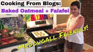 mcdougall recipes baked oatmeal falafel wraps cooking from