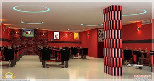 red toned restaurant interior designs kerala home design and