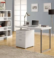 small modern computer desk desks with file cabinet drawer for small home offices bedrooms