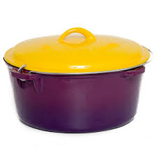cast iron enamel cookware cajun cookware 12 quart enamel cast iron dutch oven purple gold