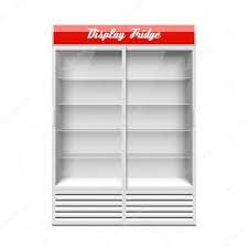 display fridge with two glass sliding doors u2014 stock vector