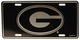uga alumni car tag ncaa bulldogs car tag elite uga license