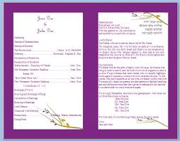 bi fold wedding program template wedding program templates free printable wedding program templates