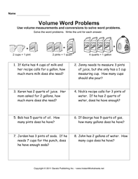 volume word problems u2014 instant worksheets