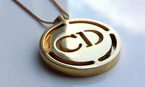 monogrammed pendant christian dioressence perfum cd monogrammed pendant 23 inch