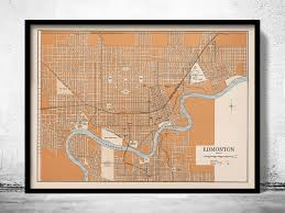 drafting table edmonton old map of edmonton canada 1915