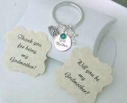 godmother keychain godmother gift godmother keychain will you be my godmother