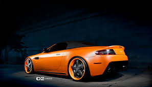 orange aston martin davide458italia aston martin v8 vantage roadster on d2forged wheels