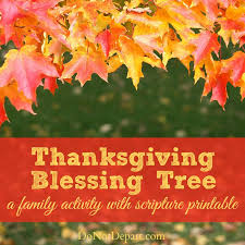 thanksgiving blessing tree a family activity do not depart