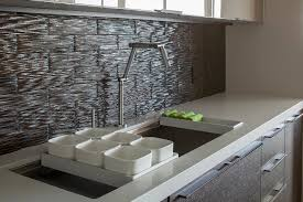 contemporary kitchen backsplash mineral tiles now distributing its new waters clear glass tile