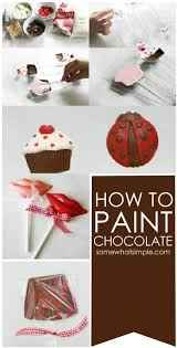 painting chocolate