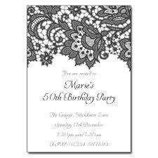 lace invitations black white lace party invitations the invitation boutique
