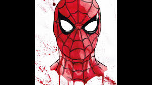 spiderman splatter a dredfunn watercolor painting youtube