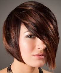 high and low highlights on short hair perfect asymmetric bob with high low lights in a perfect bronze