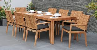 Reclaimed Teak Garden Furniture - Reclaimed teak dining table and chairs