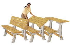 Folding Picnic Table To Bench Amazon Com Hopkins 90110onlmi 2x4basics Flip Top Benchtable