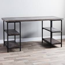 Metal Office Desk Us Worldwide Renate Reclaimed Wood And Metal Office Desk Walmart