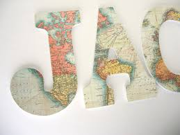 world map wood letters for travel nursery wooden name décor