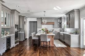 grey kitchen cabinets with white countertop grey kitchen design home bunch interior design ideas