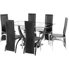 Glass Dining Table And 6 Chairs 2 Seater Dining Table Counter Height Dining Room Sets Kitchen