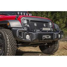 rugged ridge 11544 01 spartacus front bumper satin black 07 16