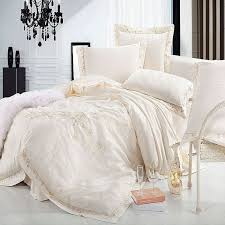 Beige Comforter Aliexpress Com Buy Jacquard Satin Bedding Set Luxury 4 6pc