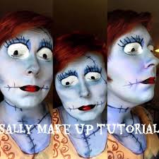 Nightmare Before Christmas Halloween Makeup by Sally From Nightmare Before Christmas Makeup Youtube