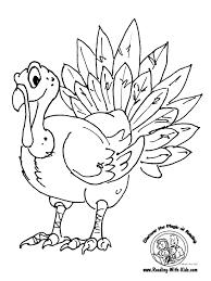 coloring pages draw thanksgiving turkey olegandreev