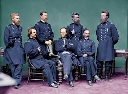 otis siege social general sherman and his staff standing left to right oliver otis