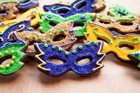 mardi gras cookie cutters mardi gras mask cookies with sprinkles on top