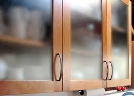 Kitchen Cabinets With Frosted Glass Traditional Glass Kitchen Cabinet Doors Comes With Wooden Framed