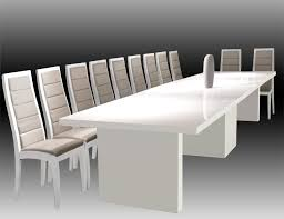 Extendable Meeting Table Largo White Lacquer Dining Conference Table Modern Dining Rooms