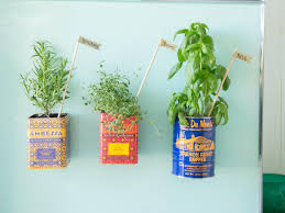how to make a magnetic herb garden for the fridge hgtv u0027s