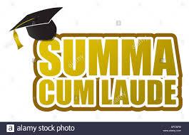graduation sign summa laude graduation sign illustration design stock photo
