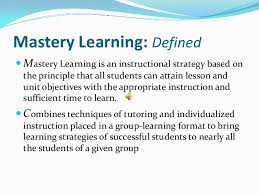 angela peterson mastery learning final project