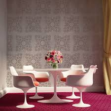Damask Wall Decor Allover Wall Damask Stencil Bernice For Diy Painted Wallpaper Look
