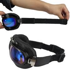 colorful lenses classic scooter motocross hamist vintage goggles aviator half helmet glasses wwii raf pilot