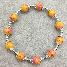 glass beads bracelet images Wholesale brand new fashion glass beaded petal alloy beads jpg