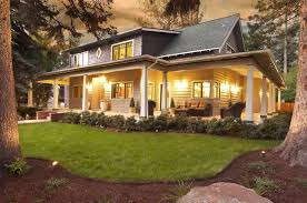 landscaping ideas for wrap around porches homes in bend oregon
